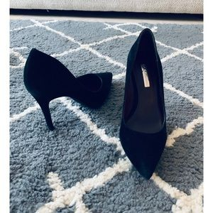 BCBGeneration Black Suede Heels size 5.5